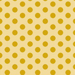 Tilda 110 Medium Dots Flaxen Yellow