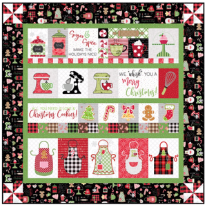 KIT-MASWYMC-BSEW, We Whisk You a Merry Christmas Quiltpakket
