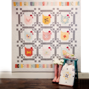 KITPCN1901-TOT, Chicken Scratch Quilt-Kit, by Jina Barney and Lori Woods