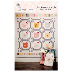 KITPCN1901-TOT, Chicken Scratch Quilt-Kit, by Jina Barney and Lori Woods Quiltpakket Patchworkpakket