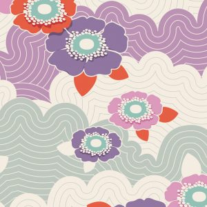 Lazy days Tilda 110 Frances Lilac 100168 quiltstof