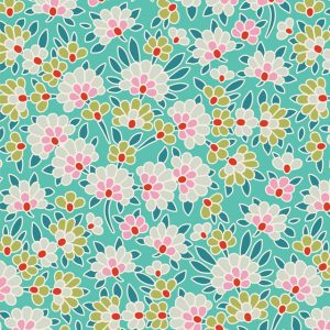 Lazy days Tilda 110 Josephine Teal 100177 patchworkstof