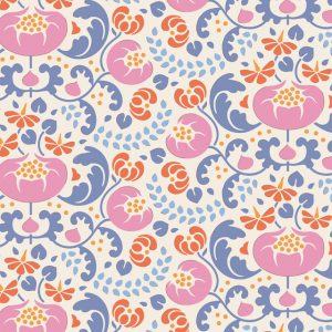 Lazy days Tilda 110 Mildred Blue 100173 patchworkstof
