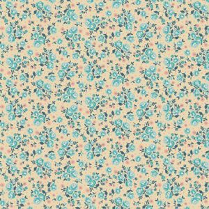 Makower Stitch in Time 2140 Q Ditzy Cream quiltstof