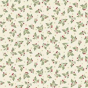 Deck the Halls Leaf Spray Makower UK 2094 Q Quiltstof Patchworkstof