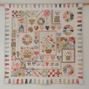 Quiltpatroon Gossip in the Garden van Hatched and Patched
