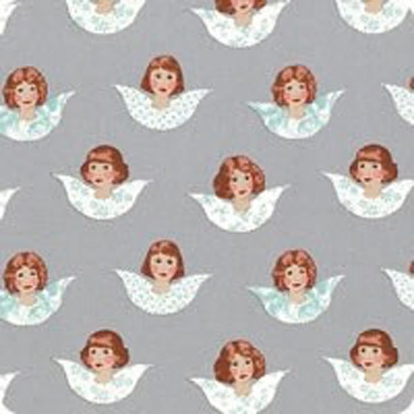 Tilda Old Rose Angel Scraps Grey quiltstof