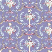 Tilda Old Rose Birdsong Blue quiltstof