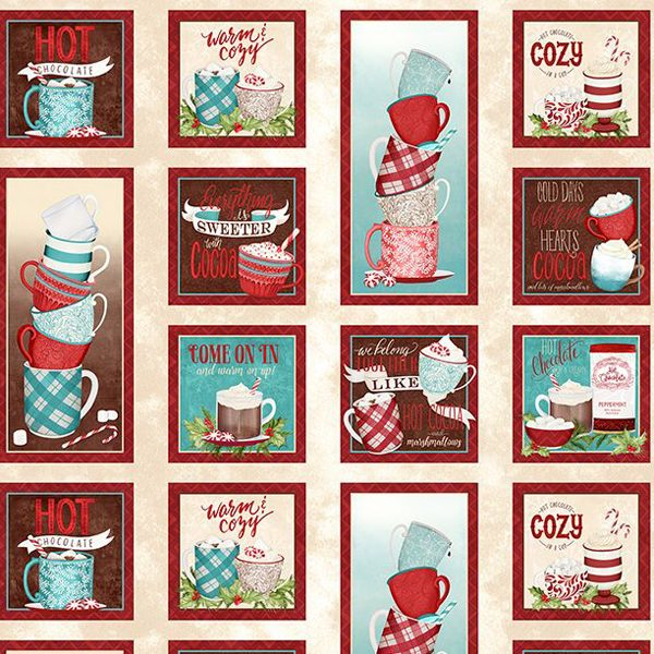Wilmington Prints Danielle Leone Cuppa Cocoa 27570 234 Craft Panel Multi