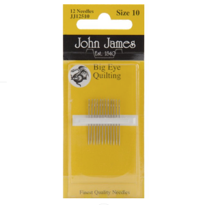 John James Big Eye quilting needles no 10