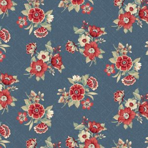 Laura Berringer Blue Meadow Blue Bouquets Slate Blue 0782 0121 Marcus Fabrics Us 295-2