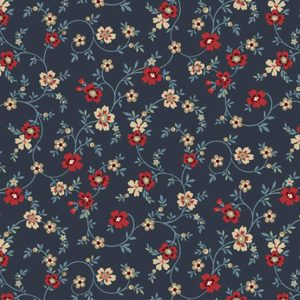 Laura Berringer Blue Meadow Flowery Navy 0783 0110 Marcus Fabrics Us 294-4