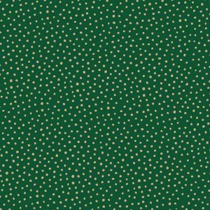 Makower Silent Night Metallic Spot Green 1932/G