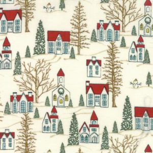 Moda Basic Grey Winter Village White Paper 30551-11