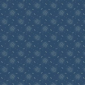 Paula Barnes Mood in Blue Dottie Flower 0725 Marcus Fabrics US 287-7