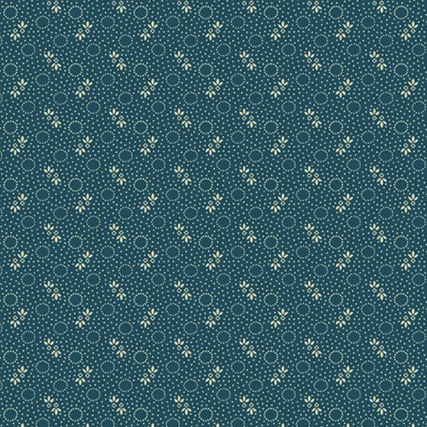 Paula Barnes Mood in Blue Little Circles 0721 Marcus Fabrics Us 287-9