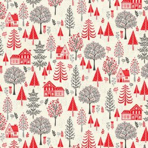 Scandi 2218/R Trees Red Makower