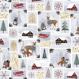 Snowy Magic by Victoria Borges for Studio E 4632 Patchworkstof