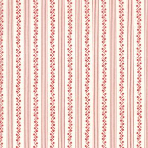 Moda Bunny Hill Designs My Redwork Garden Cream Red 2954 13