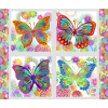 In The Beginning Fabrics Jason Yenter Unusual Garden Multi White Butterfly Panel