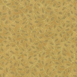 Moda Poinsettias Pine Gold 33515 18M Metallic