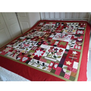 Gail Pan A Merry Christmas Garden quilt