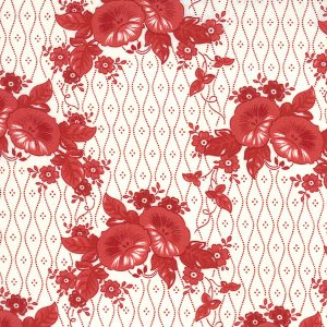 Moda Minick & Simpson Roselyn Morning Glory Ivory Red 14911 16